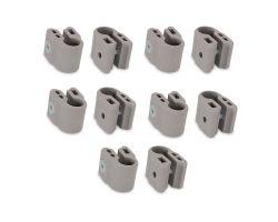 FabiMax Klemmenset für Laufgitter, 10 Stück, grau