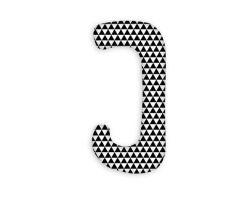 FabiMax Schwangerschaftskissen in  J-Form, ca. 112 x 58 cm, abnehmbarer Bezug, Dreiecke schwarz/weiß