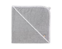 FabiMax Kapuzentuch aus 100% Baumwolle, 75x75 cm, grau