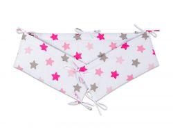 FabiMax Nestchen für Beistellbett Boxspring, 90x55 cm, rosa Sterne auf weiß
