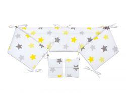 FabiMax Nestchen für Beistellbett Pro, 90x40 cm, gelbe Sterne auf weiß