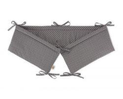 FabiMax Nestchen für Beistellbett Basic, 90x50 cm, Punkte, grau