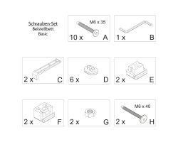 FabiMax Schraubenset für Beistellbett Basic grau