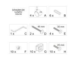 Fabimax Schraubenset für Laufgitter 100x100 weiß