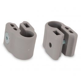 FabiMax Klemmen für Laufgitter, 2 Stück, grau