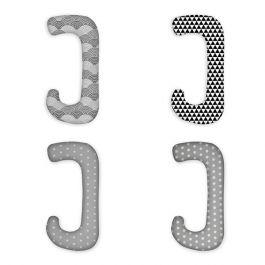 FabiMax Schwangerschaftskissen in  J-Form, ca. 112 x 58 cm, abnehmbarer Bezug