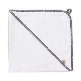 FabiMax Kapuzentuch aus 100% Baumwolle, 75x75 cm, weiß