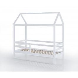 FabiMax Kinderbett Juniorbett Schlummerhaus, 80 x 160 cm, weiß