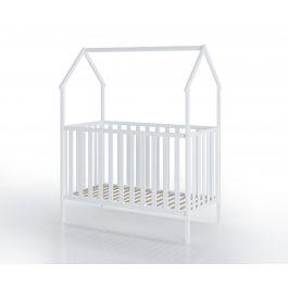 FabiMax Kinderbett Schlafmütze, 60 x 120 cm, weiß