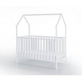 FabiMax Kinderbett Schlafmütze, 70 x 140 cm, weiß, mit Matratze