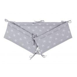 FabiMax Nestchen für Beistellbett Basic, 90x50 cm, weiße Sterne auf grau