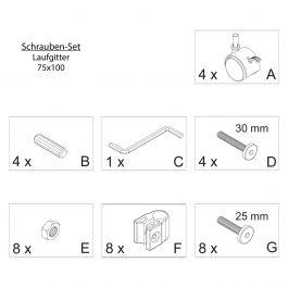 FabiMax Schraubenset für Laufgitter 75x100 natur
