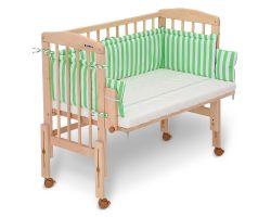 FabiMax Beistellbett PRO mit Matratze und Nestchen Betty grün