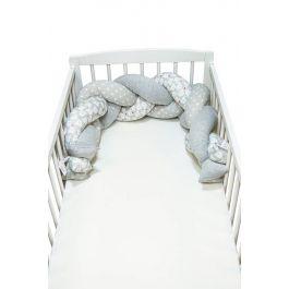 FabiMax Nestchenschlange geflochten, Nestchen Zopf 140x20 cm, grau / weiß