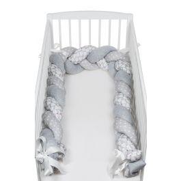 FabiMax Nestchenschlange geflochten, Nestchen Zopf  280x20 cm, grau / weiß