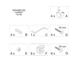 FabiMax Schraubenset für Laufgitter 75x100 weiß