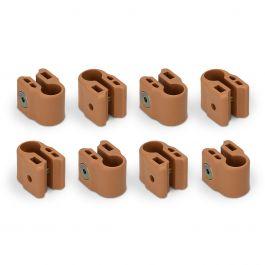 FabiMax Klemmenset für Laufgitter, 8 Stück, beige